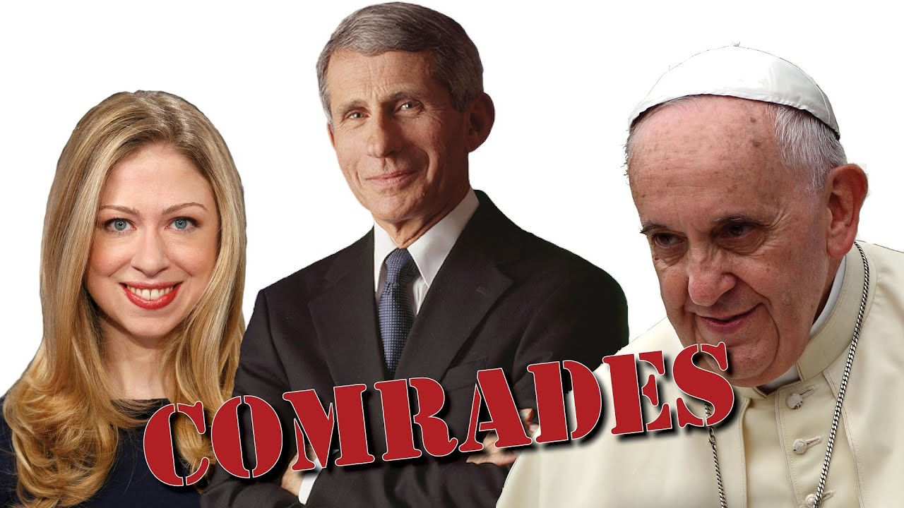BROTHERS in ARMS: Francis, Fauci and Chelsea Clinton